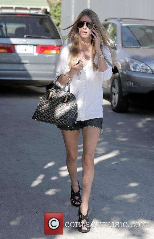 Nicky Hilton  leaving B2V salon after having...