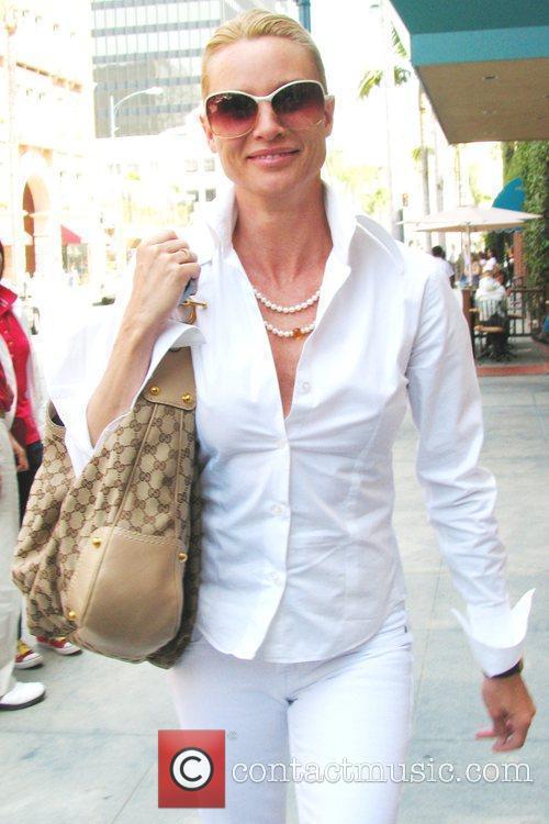 Nicolette Sheridan visits Longmi salon in Beverly Hills,...