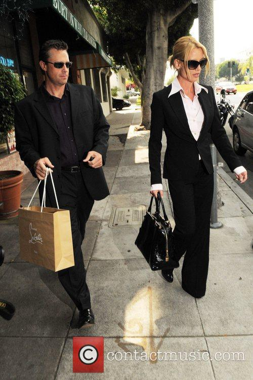 Nicollette Sheridan seen out shopping with her new...