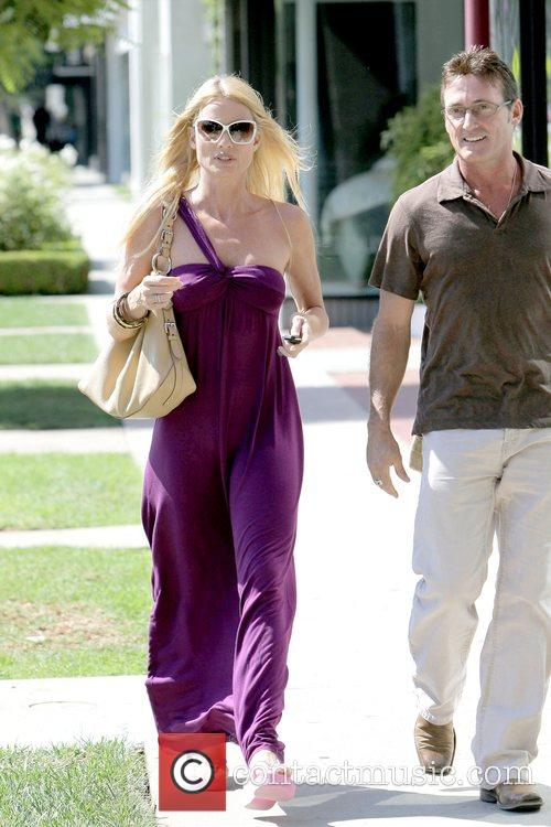 Nicollette Sheridan shopping for rugs while out and...