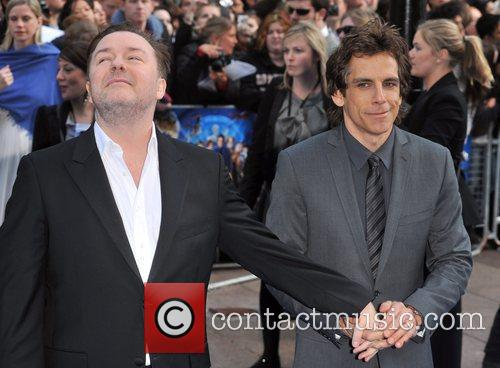 Ben Stiller, Ricky Gervais, Empire Leicester Square