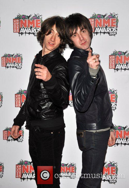 Alex Turner and Miles Kane of The Last...