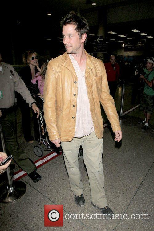 Noah Wyle Noah Wyle and family arriving at...