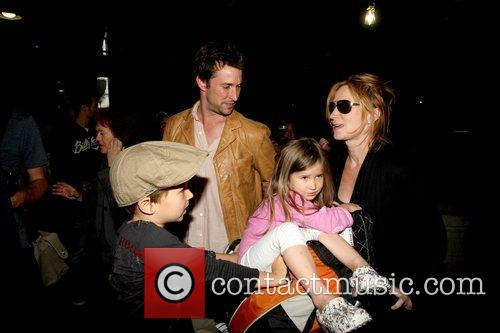Noah Wyle, Owen Wyle, Tracy Warbin and Auden...