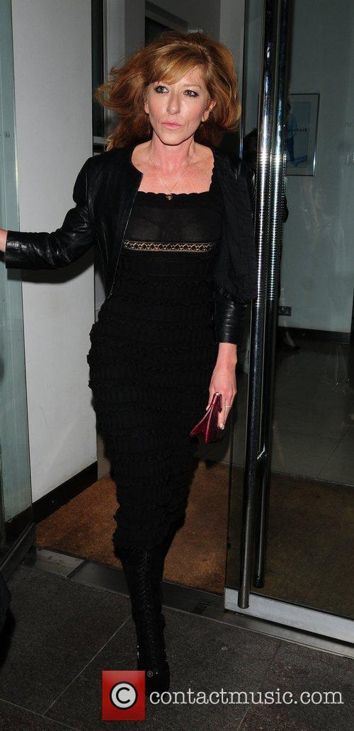 Kelly Hoppen leaving Nobu restaurant London, England