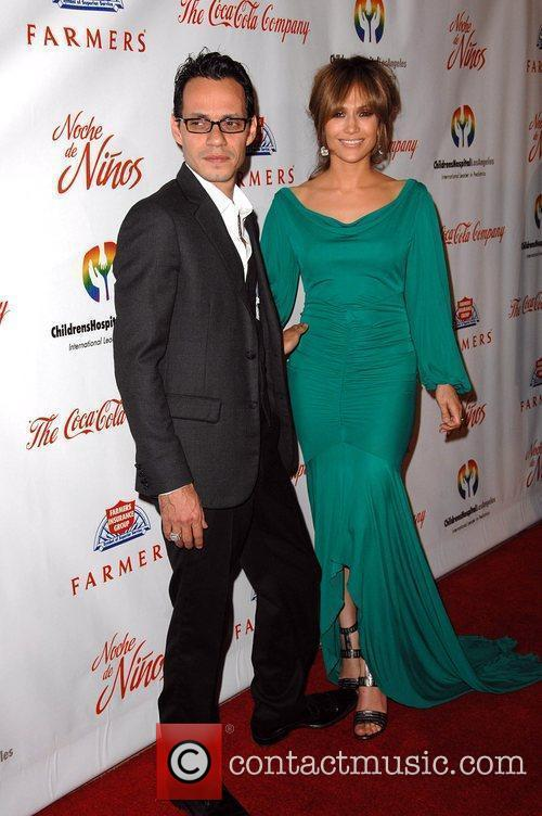 Marc Anthony and wife actress Jennifer Lopez The...