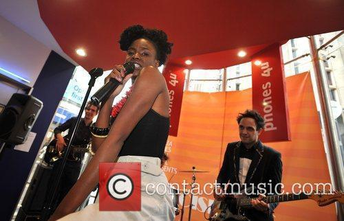 The Noisettes Instore performance held at Phones 4U,...