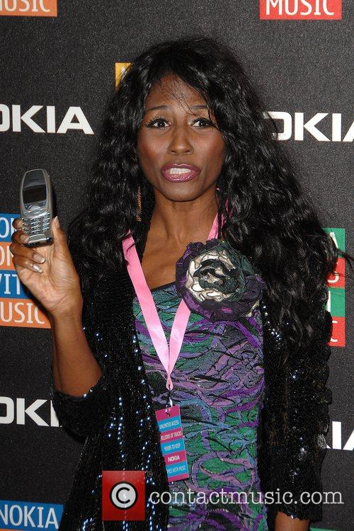 Sinitta  arrives at the Nokia Comes With...