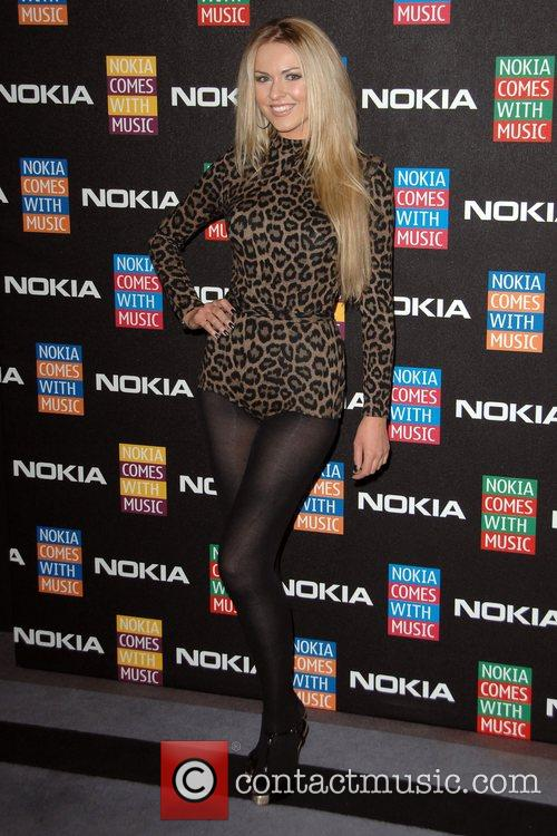 Zoe Salmon  arrives at the Nokia Comes...