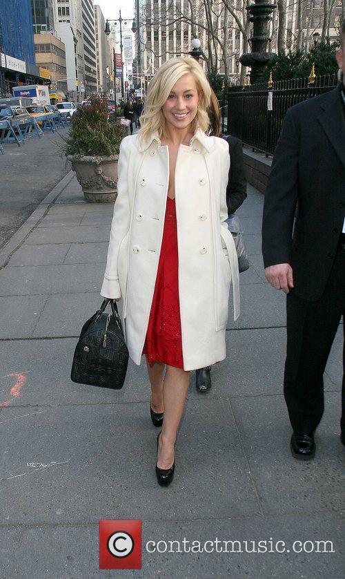 Walks through Bryant Park during New York Fashion...
