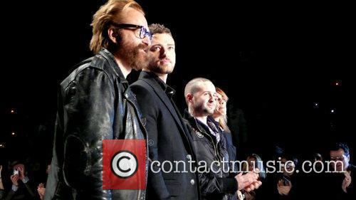 Johan Lindeberg, Justin Timberlake, Trace Ayala and Marcella...