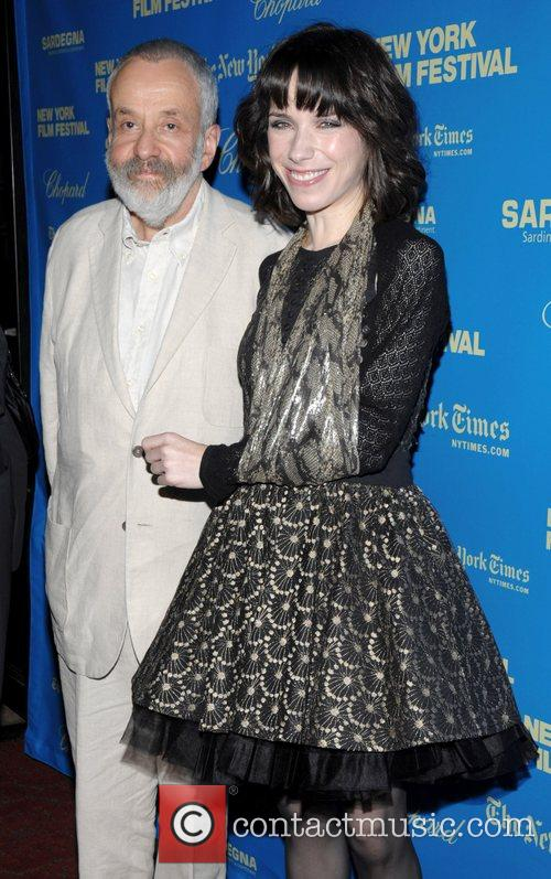 Director Mike Leigh and Sally Hawkins at the...