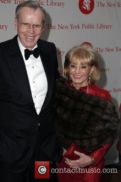 Barbara Walters and guest New York Public Library...