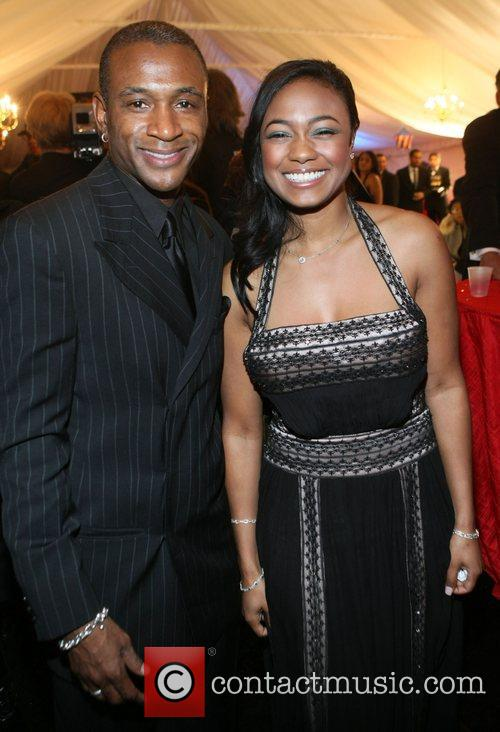Tommy Davidson and Tatiana Ali attend the The...