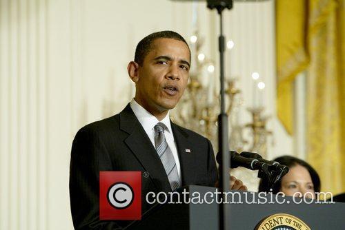 President Barack Obama at the presentation of Kansas...