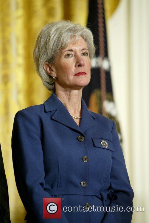 Kansas Governor Kathleen Sebelius at the presentation of...