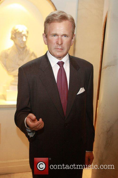 President George W. Bush President-elect Barack Obama waxwork...