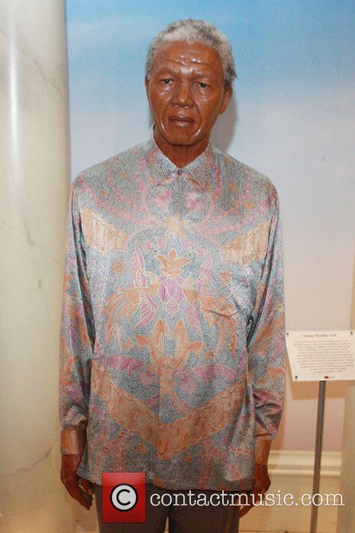 Nelson Mandela President-elect Barack Obama waxwork unveiling at...