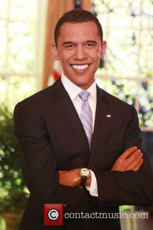 President-elect Barack Obama  waxwork unveiling at Madame...