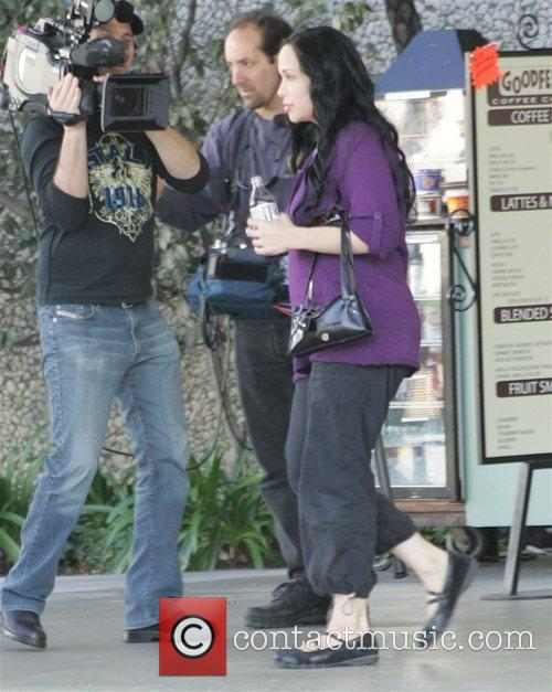 'Octomom' aka Nadya Suleman arrives at the hospital...