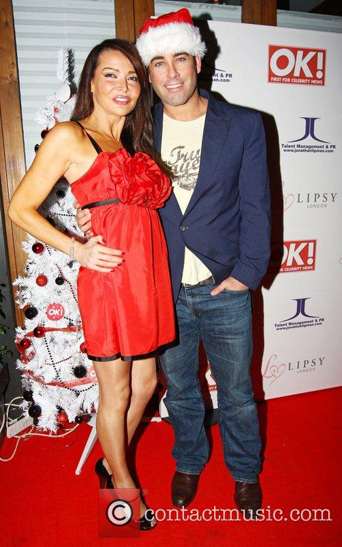 Lizzie Cundy and guest,  OK Magazine Editorial...