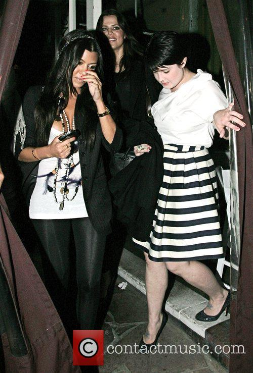 Khloe Kardashian and Kourtney Kardashian and Kelly Osbourne...