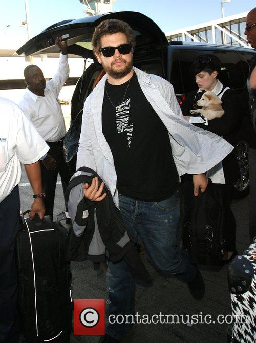 Jack Osbourne arrives at LAX airport with his...