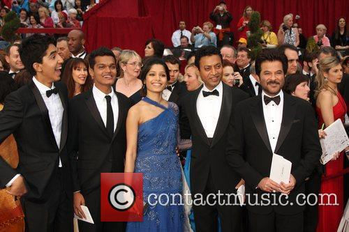 Irrfan Khan, Dev Patel, Anil Kapoor, Freida Pinto, Madhur Mittal and Academy Of Motion Pictures And Sciences 1