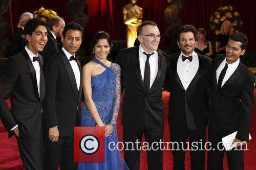 Dev Patel, Danny Boyle, Irrfan Khan, Anil Kapoor, Freida Pinto and Academy Of Motion Pictures And Sciences 1