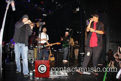 Ozomatli of Ozomatli performing at Irving Plaza New...