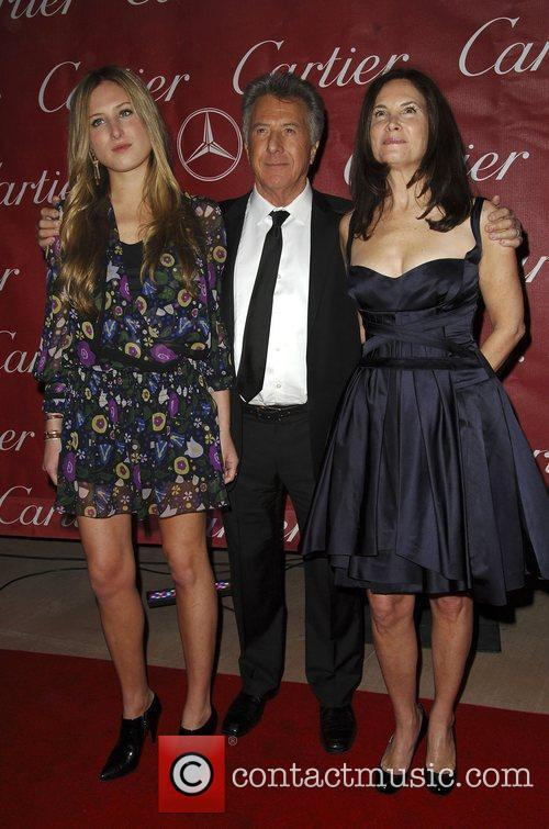 Dustin Hoffman with his wife and Daughter attends...