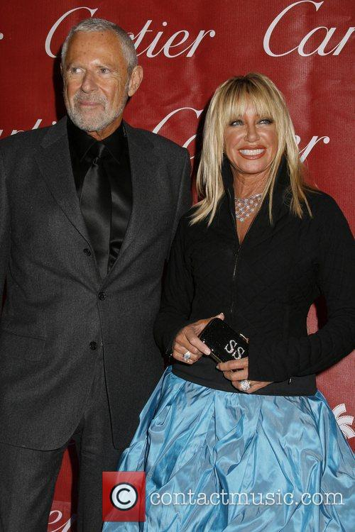 Suzanne Somers and her husband Alan Hamel attends...