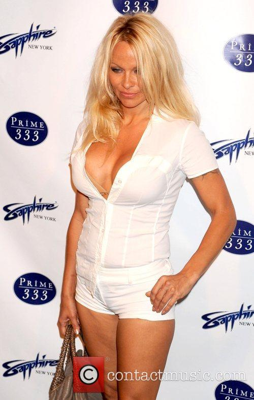 Pam Anderson at the opening of Sapphire Nightclub...