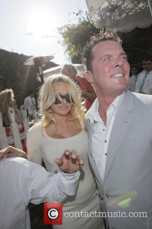 Pamela Anderson and A Male Friend Leave The Ivy After Having Lunch 5