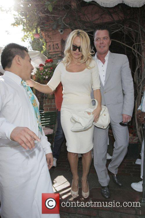 Pamela Anderson and A Male Friend Leave The Ivy After Having Lunch 2