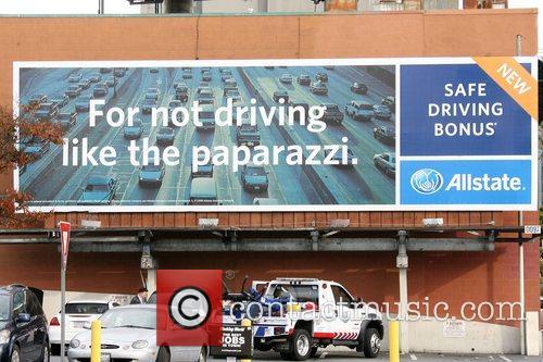 Allstate insurance billboard offering a Safe Driving Bonus...
