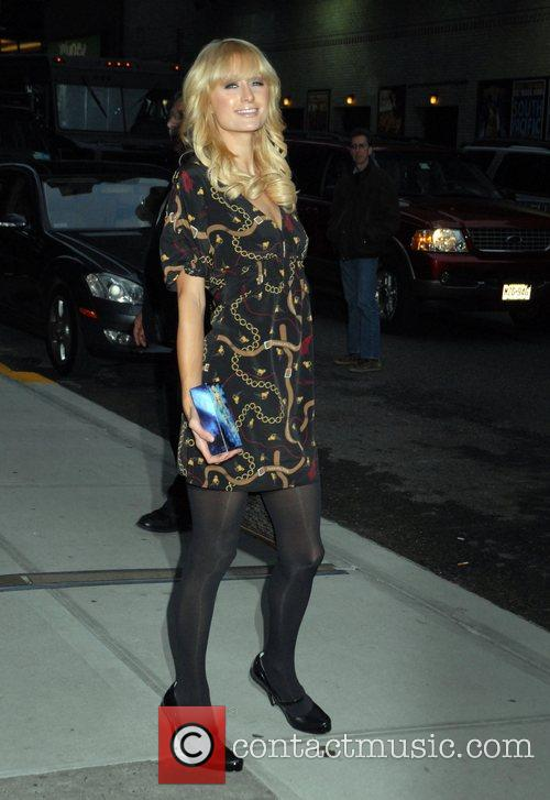 Paris Hilton and David Letterman 4