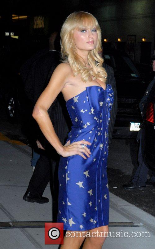 Paris Hilton and David Letterman 6