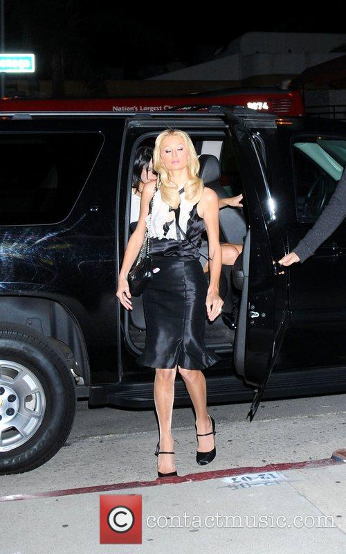 Paris Hilton  arrives at the Trashy Lingerie store...