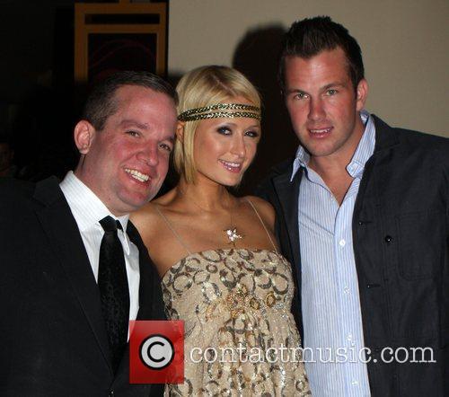 Paris Hilton and boyfriend Doug Reinhardt with guest...