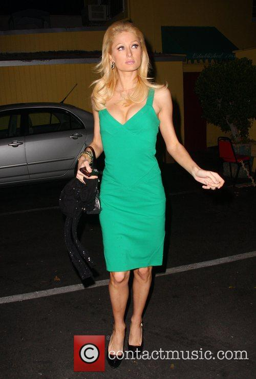 Paris Hilton arrives at Foxtail nightclub Los Angeles,...