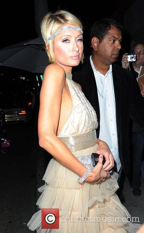 Paris Hilton arriving at Mr Chow restaurant Los...