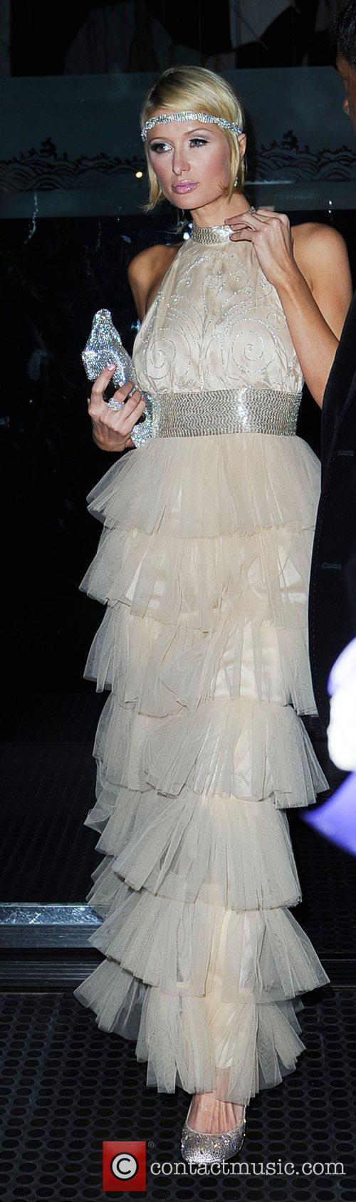 Paris Hilton Leaving Mr Chow restaurant Los Angeles,...