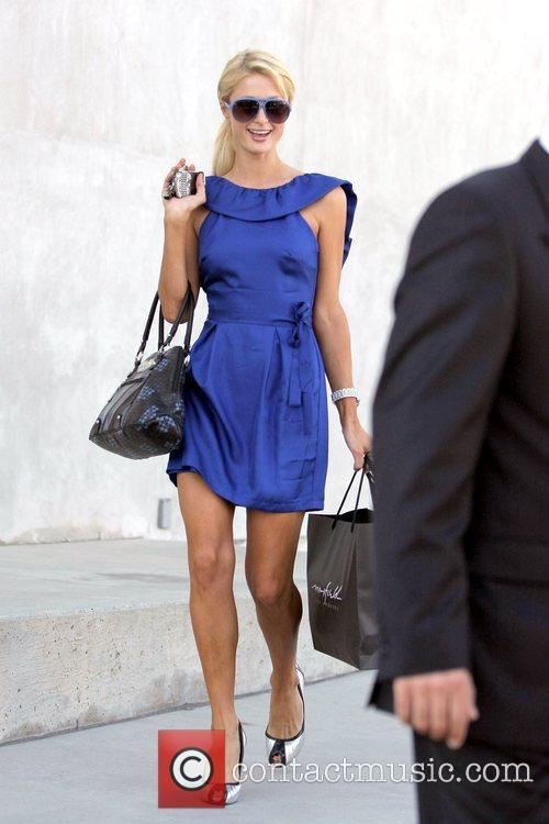 Paris Hilton  leaving Maxfield after shopping Los...