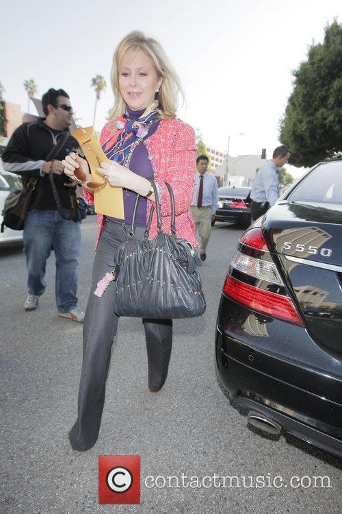 Kathy Hilton arrives at the Ivy restaurant to...
