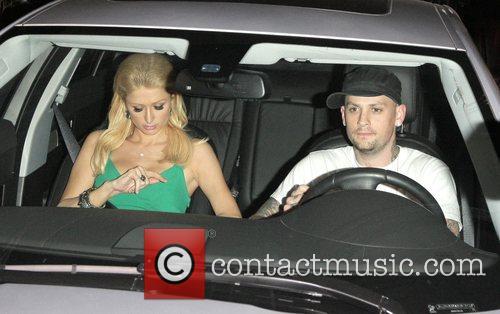Paris Hilton and Benji Madden leaving Foxtail Lounge...