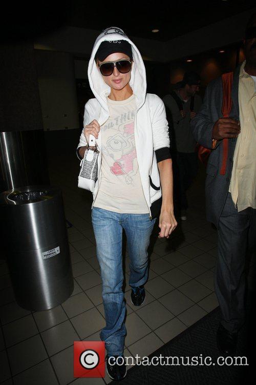 Paris Hilton arrives at LAX airport Los Angeles,...