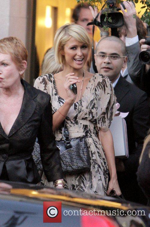 Paris Hilton attends a photoshoot at Damiani Boutique....