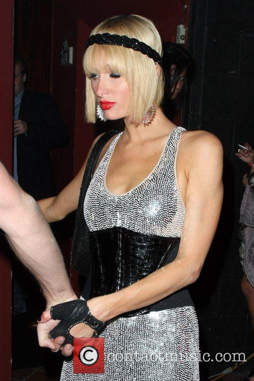 Paris Hilton leaving Bar Deluxe in Hollywood