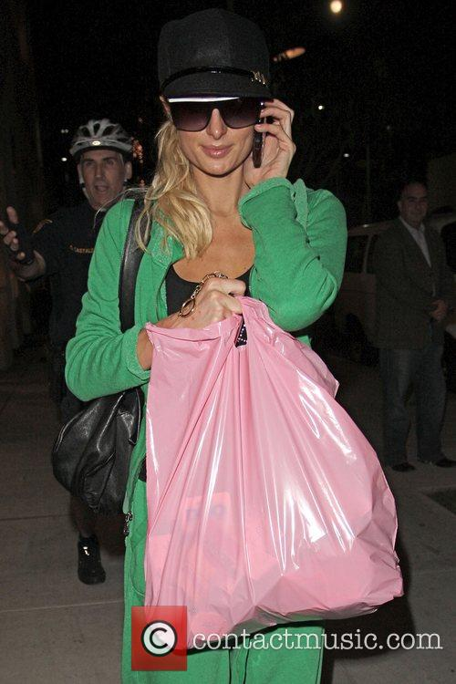 Paris Hilton picks up cosmetic supplies at Parvaneh...
